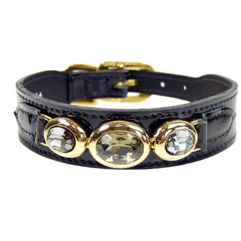 swarovski collar black swarovski collar regency unique designer leather collars at