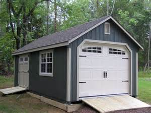 Wonderful Garden Shed Garage #1: 12x20-painted-garden-shed-garage-with-transom-doors-and-heritage-garage-door.jpg
