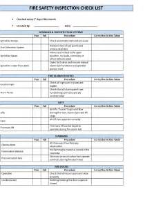 free fire inspection checklist templates at