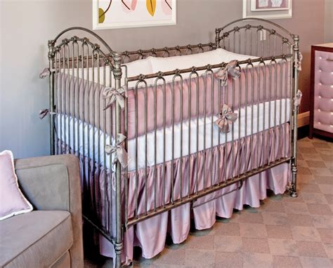 Silk Crib Bedding Set Silk Lavender Crib Bedding Set Crown Interiors