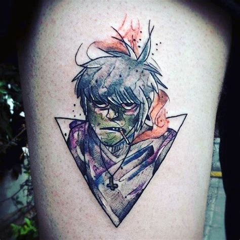 gorillaz tattoo 50 gorillaz designs for band ink ideas