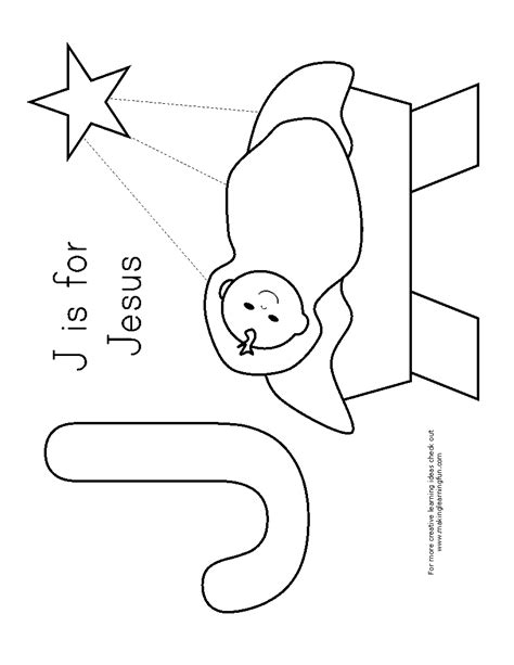 J For Jesus Coloring Page by J Is For Jesus Coloring Page