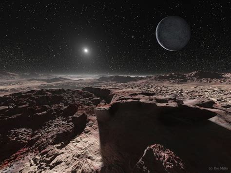 The View From Pluto by Concept Of View From Pluto S Surface Beautiful