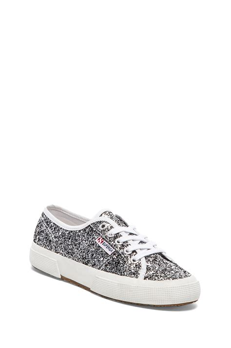 superga sneakers silver superga chunky glitter sneakers in silver lyst