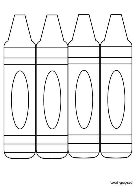three crayons to color coloring page