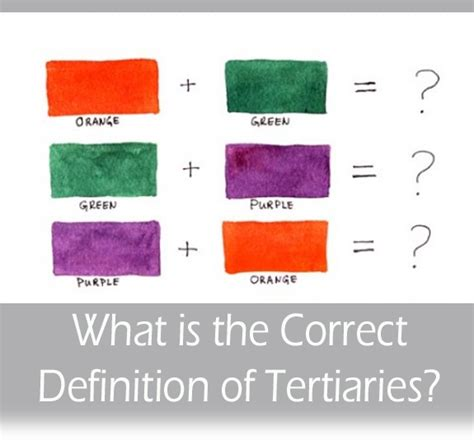 secondary colors definition what is the correct definition of tertiary colors