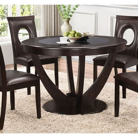 Coaster Kitchen Table Coaster Dining Table In Cappuccino 106741