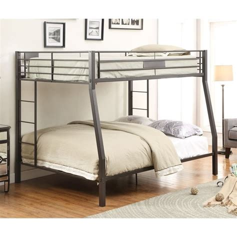 acme bunk beds acme limbra full over queen bunk bed in black sand