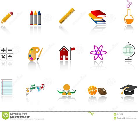 coloring school icons royalty free stock photos image school icon set color stock vector image of back high