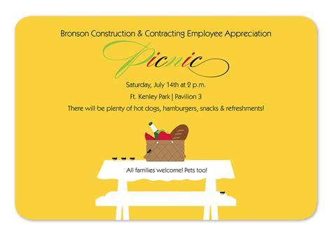 Invitation Letter Format For Picnic Picnic Perfection Invitations By Invitation Consultants Ic Rlp 390
