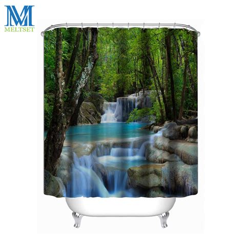 lacoste bath shower curtain aliexpress com buy 180x200cm waterfall scenery