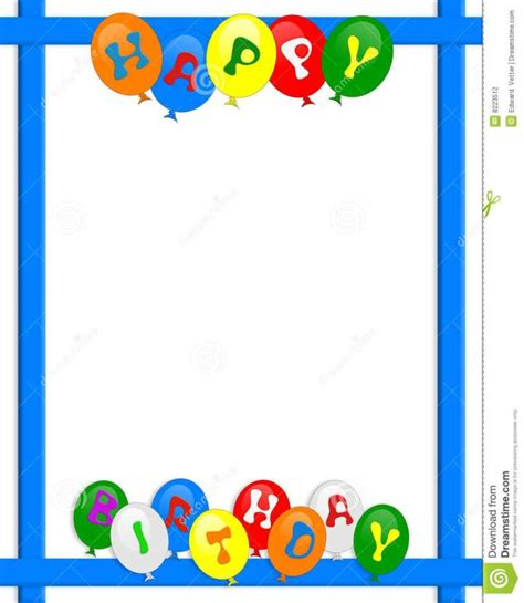 happy birthday photo frame template border designs for cards studio design gallery