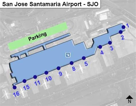 san jose international terminal map san jose santamaria sjo airport terminal map