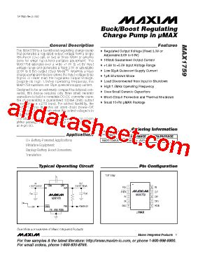 maxim integrated products dublin address max1759 datasheet pdf maxim integrated products