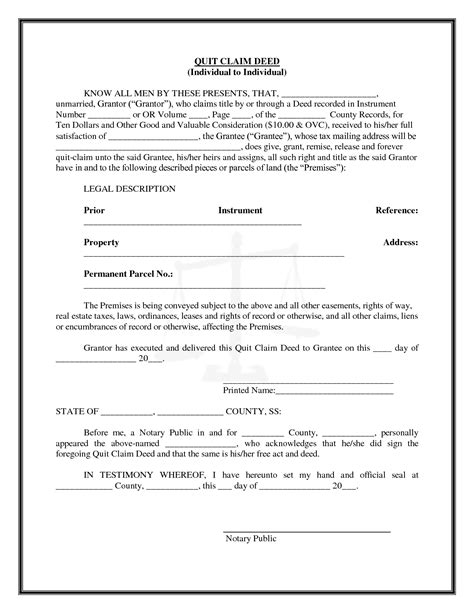 printable quit claim deed form quick claim deed michigan form