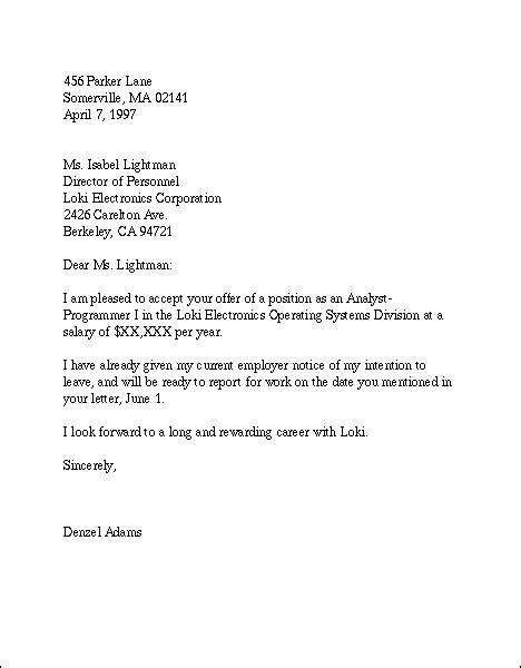 Acceptance Letter Document acceptance letter sle acceptance letters with must