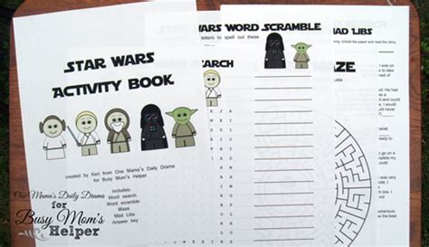 printable star wars activity book printable archives busy moms helper