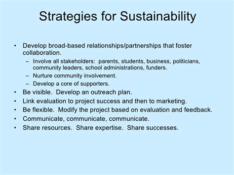 Project Planning Sustainability Strategy Document Template