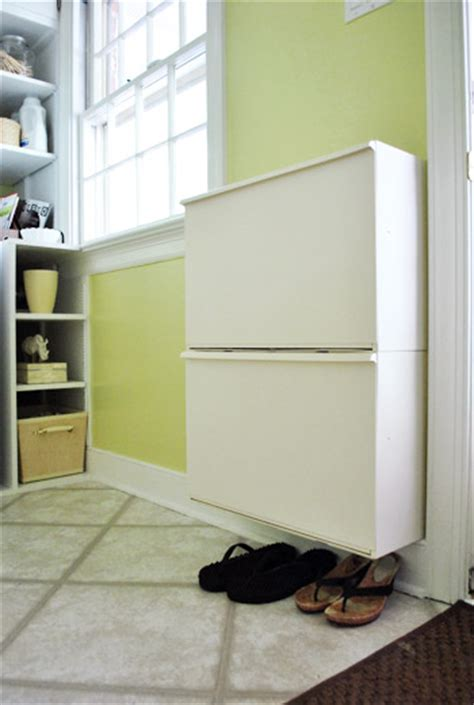 shallow shoe storage adding some shallow shoe storage by the door house
