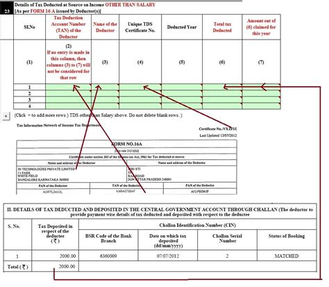 4 tax credit how to fill tds sheet while filing online filling excel itr1 form income tds advance tax