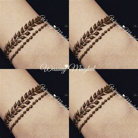 henna tattoo bracelet designs wassay mughal simple bracelet design in brown henna