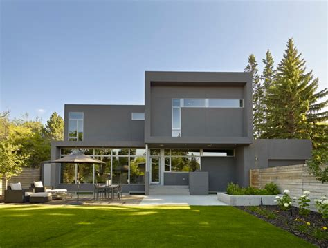 Double Window Treatments by Sd House Modern Exterior Edmonton By Thirdstone