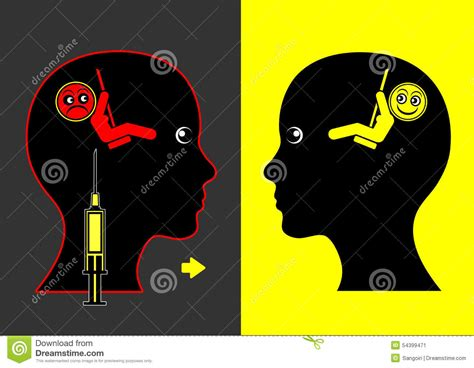 cocaine mood swings mood lifting drugs stock illustration image 54399471