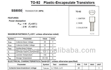 transistor d331 datasheet transistor d331 datasheet 28 images s8050 transistor s8050 d 331 at 1mhz electrical