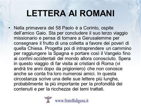 lettere ai romani introduzione alle lettere di paolo ppt scaricare