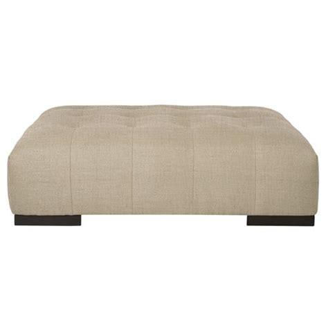 rectangular ottoman coffee table arden modern classic tufted beige linen rectangle coffee