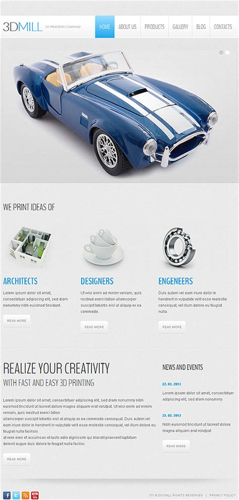 3d printer templates 3d printers company joomla template web design templates