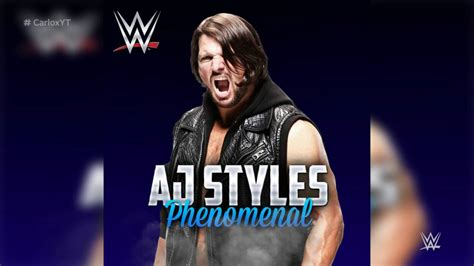 Wwe Theme Songs Karaoke | wwe phenomenal aj styles instrumental custom theme