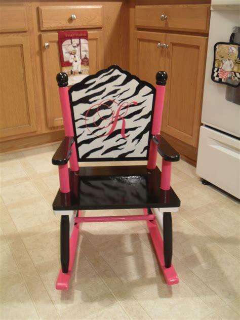 girls rocking chair zebra  hot pink room decor chair rocking chair room decor