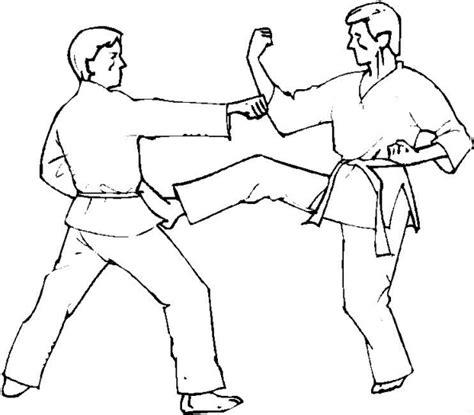 karate boy coloring page coloriage activites judo 224 colorier allofamille