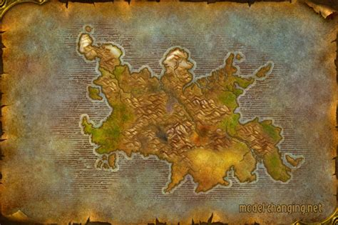 wow map world of warcraft styled map