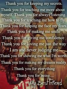 Thank You Letter Friend Quotes Thank You For Being My Best Friend My Passion Pinterest