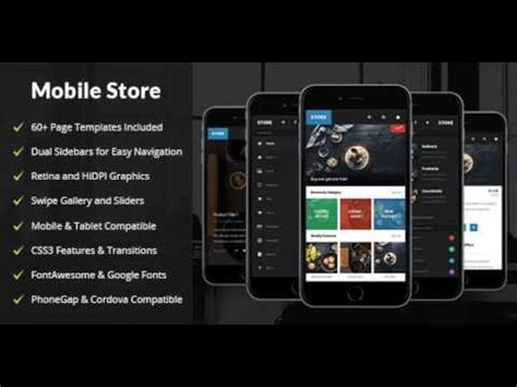 themeforest appbar mobile tablet responsive template store mobile tablet responsive template themeforest