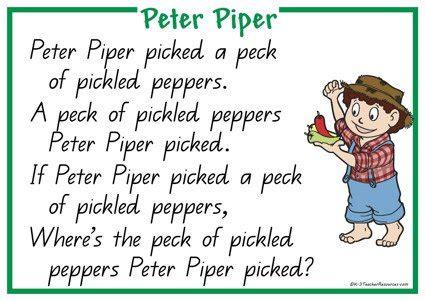 row row row your boat lyrics snake peter piper nursery rhyme