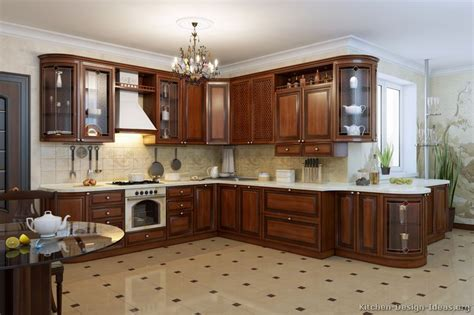 dark wood cabinets in kitchen pictures of kitchens traditional dark wood kitchens