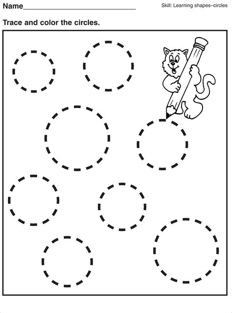 printable tracing worksheets for toddlers tracing circle worksheets for preschool activity shelter