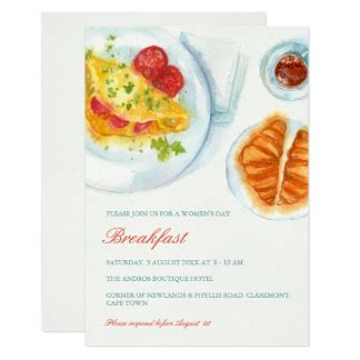 Breakfast Invitations Announcements Zazzle Breakfast Invitation Template Free