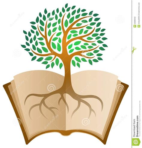 the sapling books learning book tree logo stock vector image 52585042