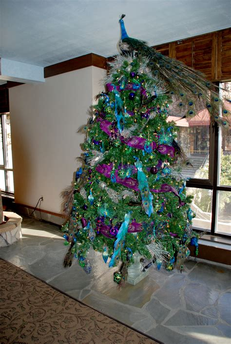 tree decoration themes tree decorating ideas with naatural peacock tree