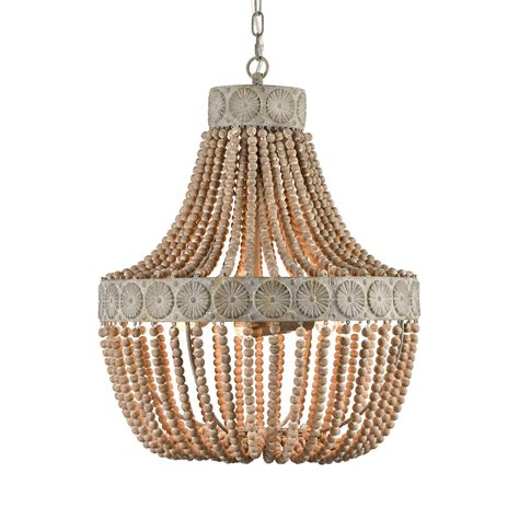 farmhouse wood bead chandeliers large dining room
