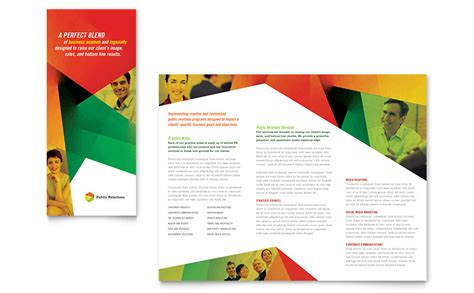 template brochure relations company tri fold brochure template word