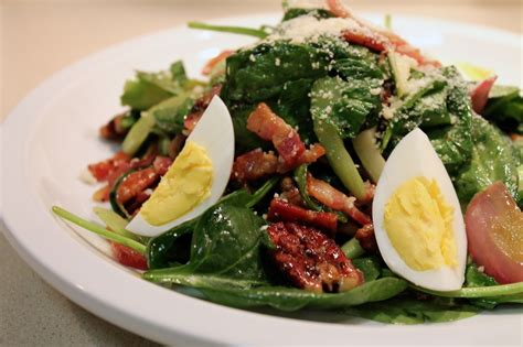 cook in dine out march 2013 cook in dine out wilted spinach and bacon salad