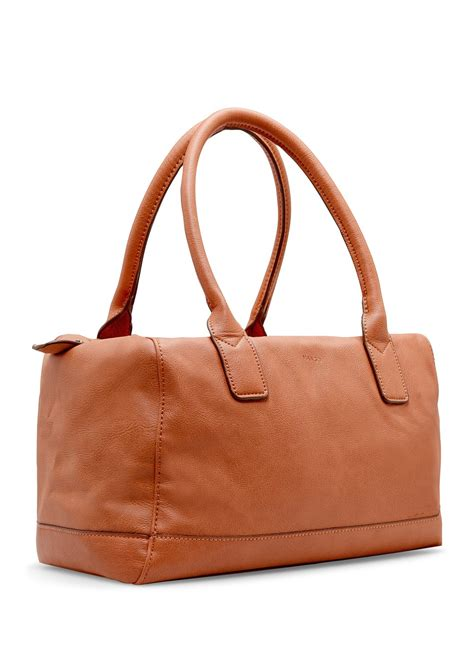 Mango Bowling Bag S mango faux leather bowling bag in brown ct lyst