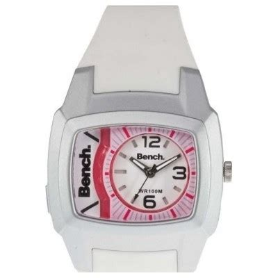 bench ladies watch bench ladies watch bc0393wh with white dial pink detail