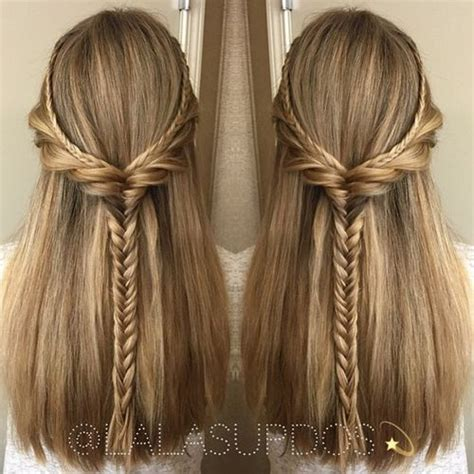 braided hairstyles straight hair 50 half up half down hairstyles for everyday and party looks