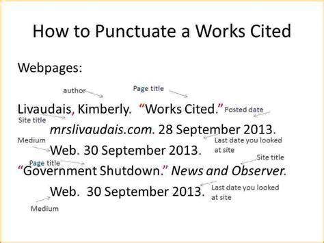 format html site works cited mla format website letter world